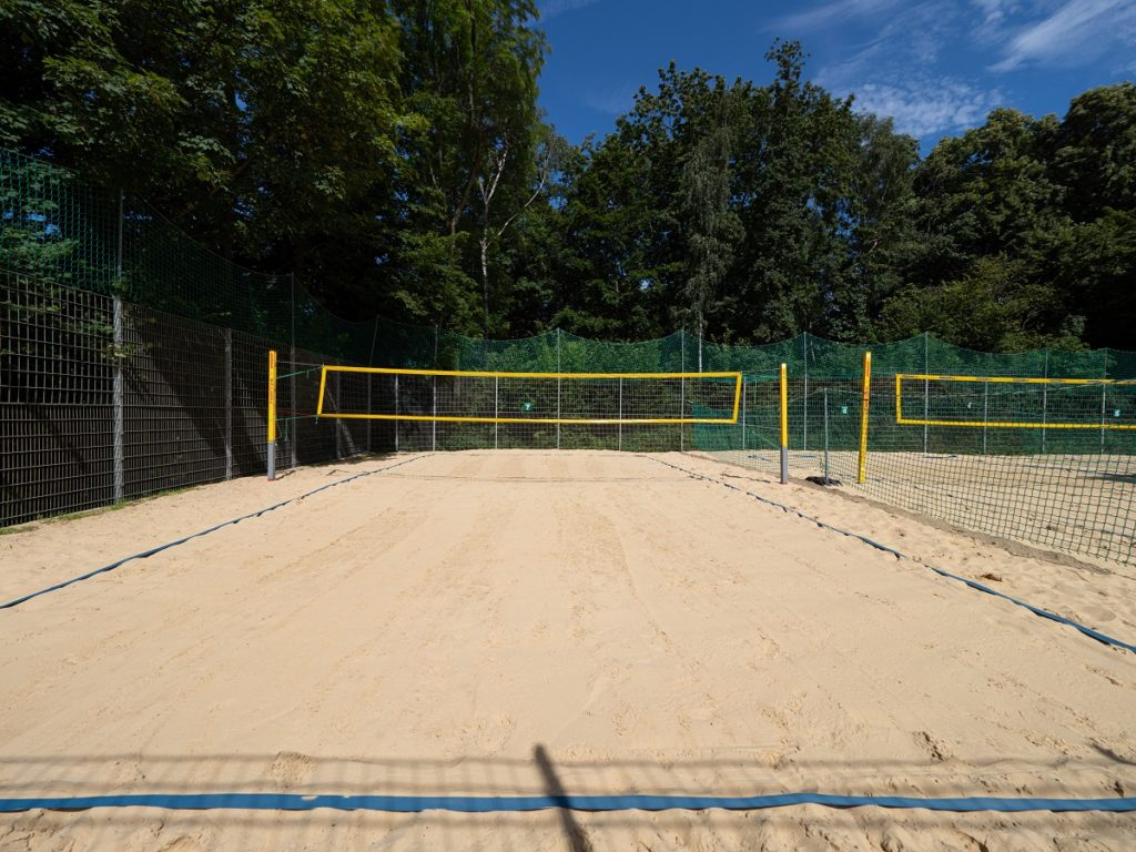 Aufnahme der Beachvolleyball Anlage